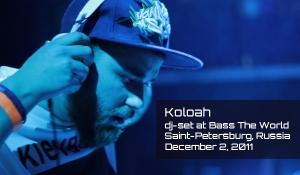 KOLOAH. Dj set at Bass The World in Saint-Petersburg (Russia)
